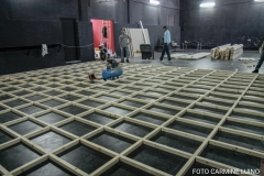 Il teatro Nest durante il ripristino dei locali